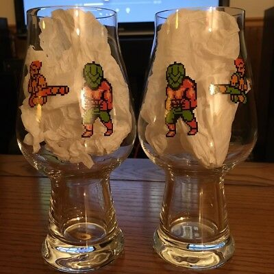 The Answer Brewpub Double Dragon anniversary glass set *Free Shipping*