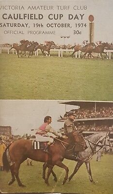 1974 Caulfield Cup Race Book Leilani Bart Cummings