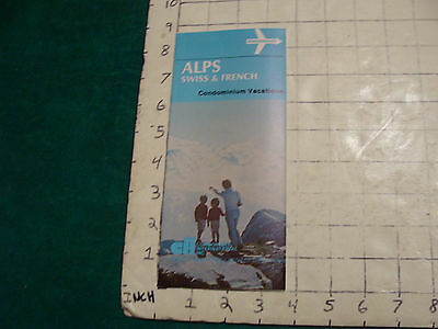 Vintage High Grade AIRLINE brochure: SWISSAIR--ALPS swiss & french 1973