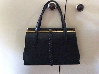 Ladies Black Handbag Ideal For Re-enactment War Or 40's Shows As Very Old Style