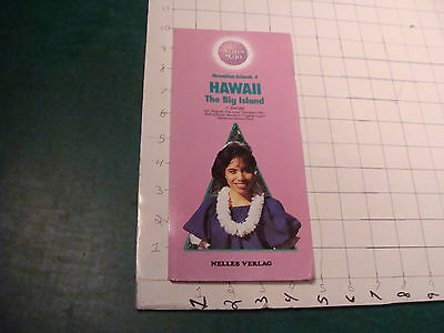 vintage Hawaii Nelles Map: HAWAII the Big Island-- nelles verlog double sided,