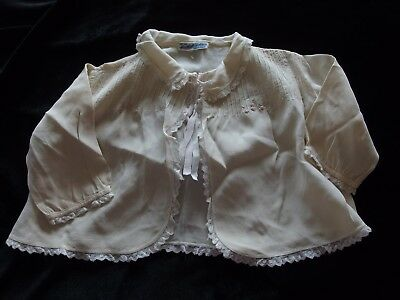 Vintage child's embroidered jacket and lace trim by Marshall Snelgrove