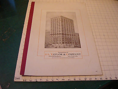 large J.L. TAYLOR & COMPANY aprox 22 x 15 advertising sheet/sign/page  SO COOL