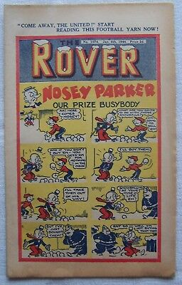 Rover  Comic – New Year 1944 – Rare Ww2 Issue – Vf!