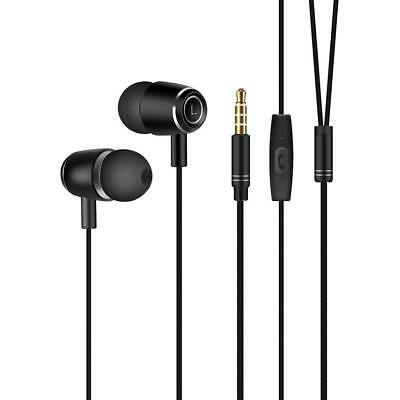 Running Sport Earbuds with MIC, Workout Music Noise Isolation Earphones (Black)