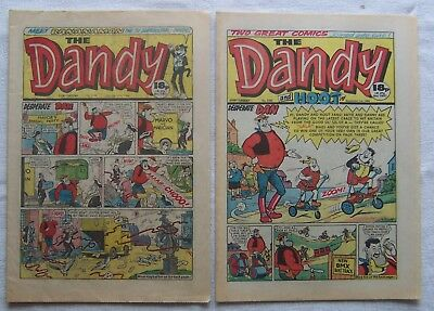 DANDY/HOOT  MERGER  PAIR  VF- and VF+ KORKY GONE FROM TITLE!!!