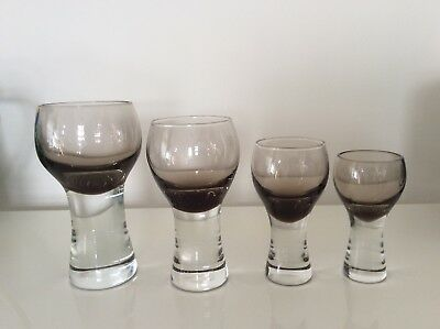 Caithness 'Canisbay' Retro Wine / Port Glassware - art classic collectible