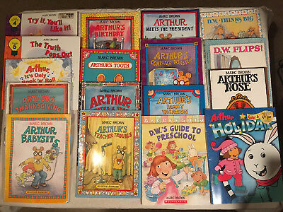 Lot ARTHUR family values MARC BROWN Babysits BIRTHDAY activity D W lot of 17