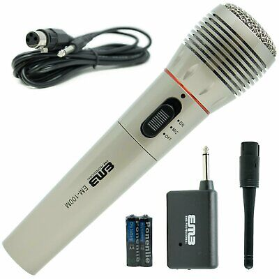 EMB Professional Handheld Wireless Microphone Mic System For Church Home Karaoke