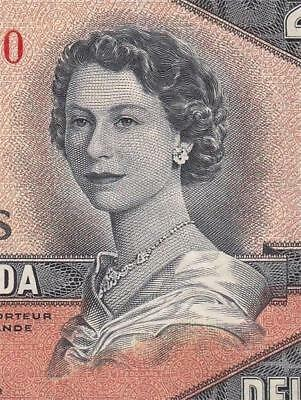1954 BANK OF CANADA QEII $2 **DEVILS FACE** (( aUNC ))