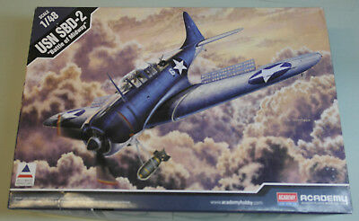 "ACADEMY 12296 -- USN SBD-2 ""Battle of Midway"" --- ungebaut 1/48"
