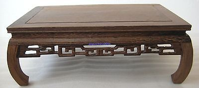 "11.2""x7.2""x4.2"" ORIENT CHINESE DISPLAY*ROSEWOOD*WEALTHY TEXTURE"