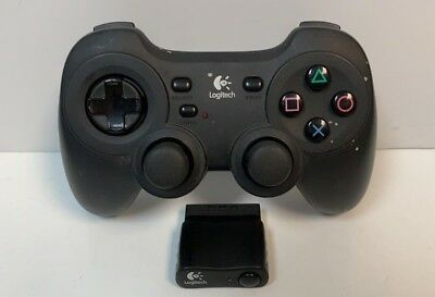Sony Playstation 2 LOGITECH Wireless CORDLESS PRECISION CONTROLLER w/ Receiver