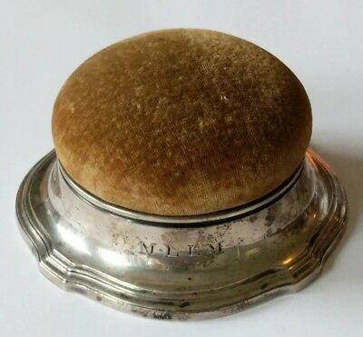 Large Antique Tiffany & Co. Sterling Sewing Pin Cushion Box