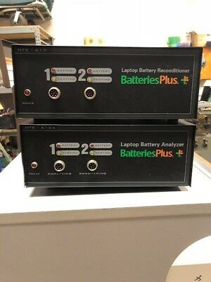 Laptop battery analyzer HTE-612, reconditioner, adapters and cables
