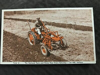 ALLIS-CHALMERS TRACTOR MODEL G Postcard