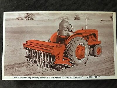 Allis-Chalmers Tractor Mounted All-Crop Drill Postcard