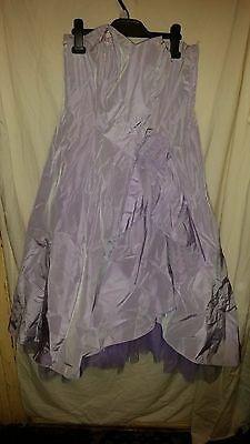 Vintage?wedding/bridesmaid Dress Strapless Lilac Debut Netted Under Silky Sz 12
