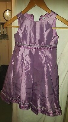Wedding /bridesmaid/prom/party Dress Next Purple Silky Sleeveless  22 Chest