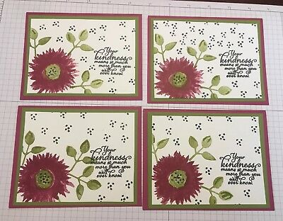 5 stampin up fall blank greeting cards 999 picclick stampin up lot of 4 petal promenade fall blank greeting cards m4hsunfo
