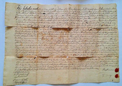 1747 & 1767 colonial NEW JERSEY indentures BORDENTOWN manuscript documents