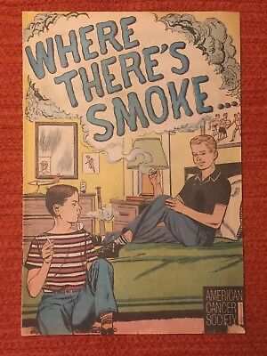 American Cancer Society Anti Smoking Comic Where Theres Smoke 1965