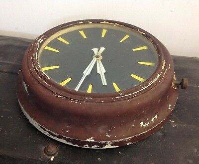 Vintage Architectural Industrial Factory Metal Wall Clock Interior Decor/prop