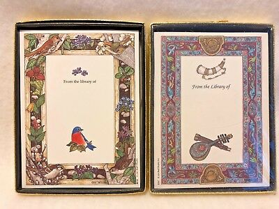 Vtg Antioch Bookplates Jan Brett Studio Birds plus new unsealed box
