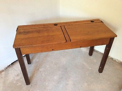 Vintage School Desk/Table Twin - Good Condition