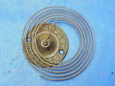 Antique Waterbury Vintage Clock Coil Gong Bell Wire Chime - Spring diameter 4""