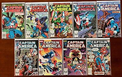 Captain America Lot - 280 282 283 284 285 286 287 288 289 (Marvel 1983-84)