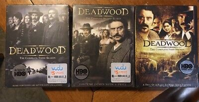 DEADWOOD The Complete Series (18-DVD Box Set) Season 1, 2 & 3 NEW Sealed