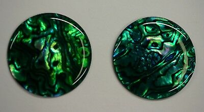 4 Green Paua Shell Round Cabochon Calibrated 4mm 5mm 6mm 7mm 8mm 10mm 12mm 14mm