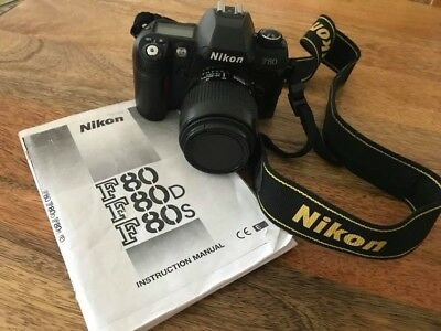 Nikon F80 35mm Film SLR Camera with Nikon 35-80 Nikkor Lens