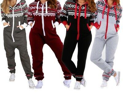 Kids Boys Girls Unisex Aztec Print Hooded Zip Up Jumpsuit All In One 7-13 Years