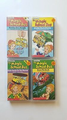 Lot Of 4 Magic School Bus VHS Tapes School Educational Elementary Videos