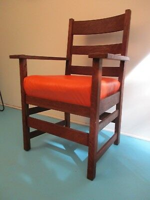 Vintage Original Stickley Arm Chair arts and crafts mission