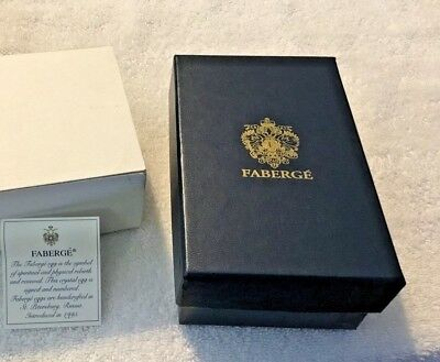 Faberge Crystal Egg-Star Cut Design #1003-New in Box