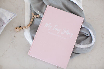 Pink Baby Journal - Pregnancy to Five Years Old - Linen Hardcover Book - 92 Page