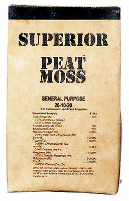 Dollhouse Miniature 4 empty bags of Superior Peat Moss