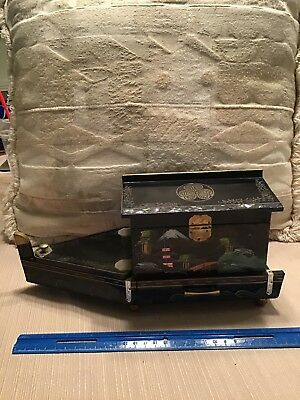 japanese black lacquer Jewelry Music Box.