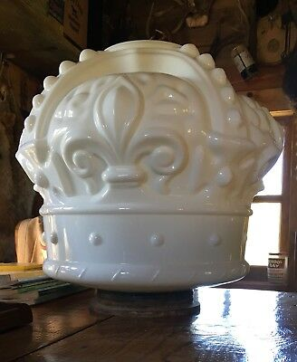 Original Antique Standard Oil Crown Milk Glass Gas Pump Globe