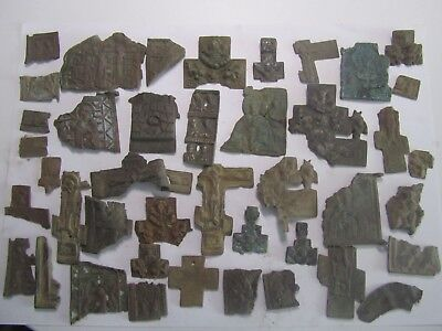 MIX Metal detector finds.Fragments ancient crosses & icon