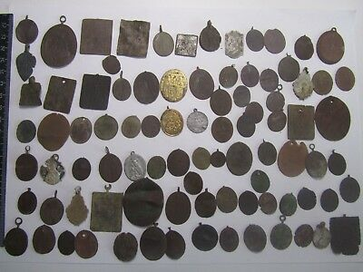 Antique icon,Pendants 19th century Metal detector finds (89 pieces)