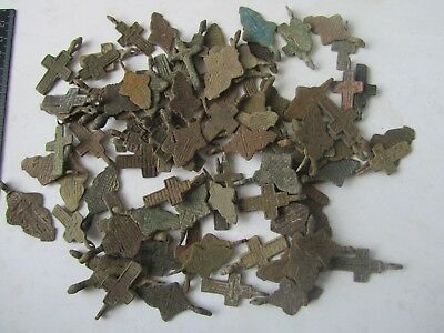 Metal detector finds.Mix lot  ancient crosses (The age of 17-19)100 pieces. N6
