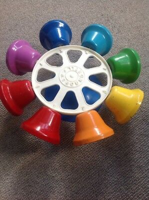 FMT Round Bell 8 Handbells Percussion Coloured Chime Bar Pre School Early Years