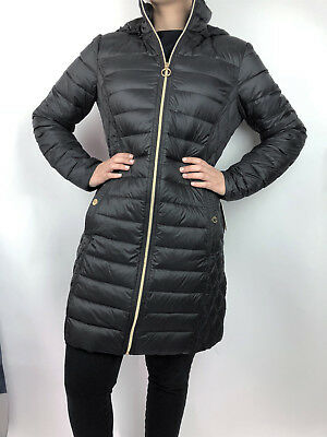 b67167f3f WOMENS MICHAEL KORS Packable Down Puffer Jacket Bubble Coat 3/4 Length Black