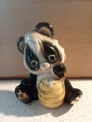 Vintage Collectible Ceramic Honey Bear Bank, Bear, Bee Hive, Pre-Owned