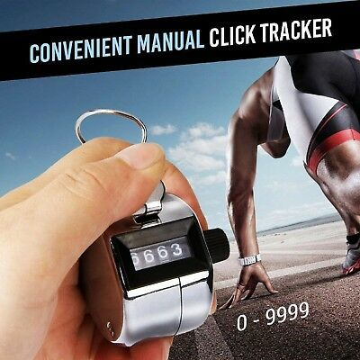 Counter Clicker 4 Digit Number Handheld Golf Tally Handy Convenient Lap Tracker