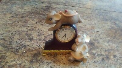 Fitz and Floyd Charming Tails - Mice and Clock - Excellent Condition!